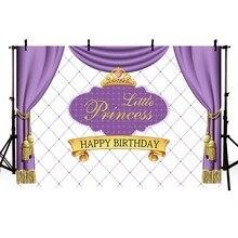 Background Photography Cartoon Little Princess Crown Children Birthday Party Celebration Scene Photographic Studio
