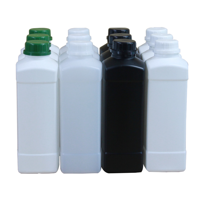 500ML 1000ML HDPE Square Empty Plastic Bottle With Lid Shampoo/Conditioner/Paint Storage Container 1PCS