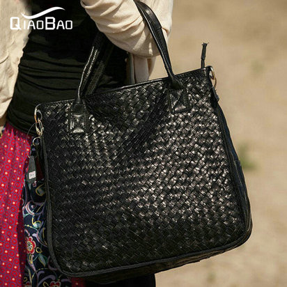 QIAOBAO 100% genuine leather bag women messenger bags handbags women famous brand bag free shipping famous brand bag 100