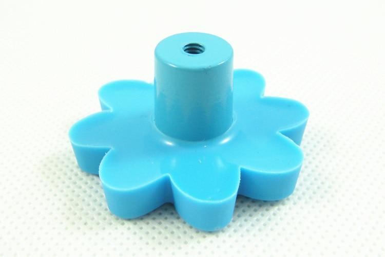Children Bedroom Furniture Cabinet Knobs and Handles Drawer Dresser Pulls Soft Rubber Blue sunflower