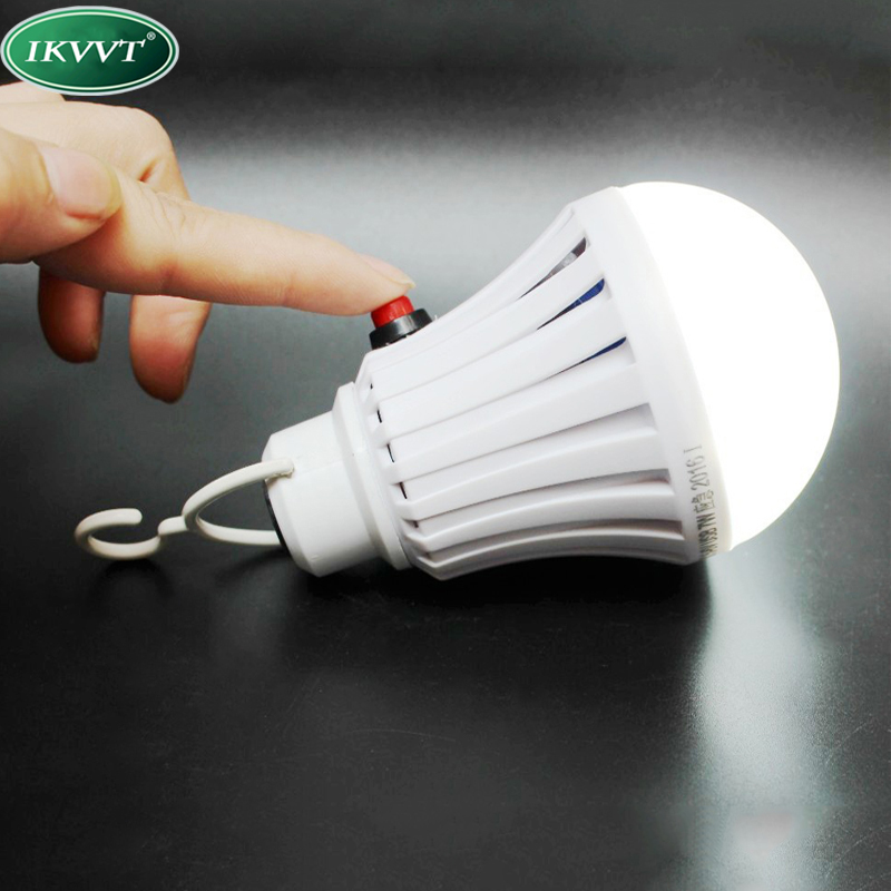 Portable Solar Lamp 12W LED Bulbs Outdoor Emergency Lighting  Charge Mobile Power Charging Camping Tent Light Bulb With Switch купить