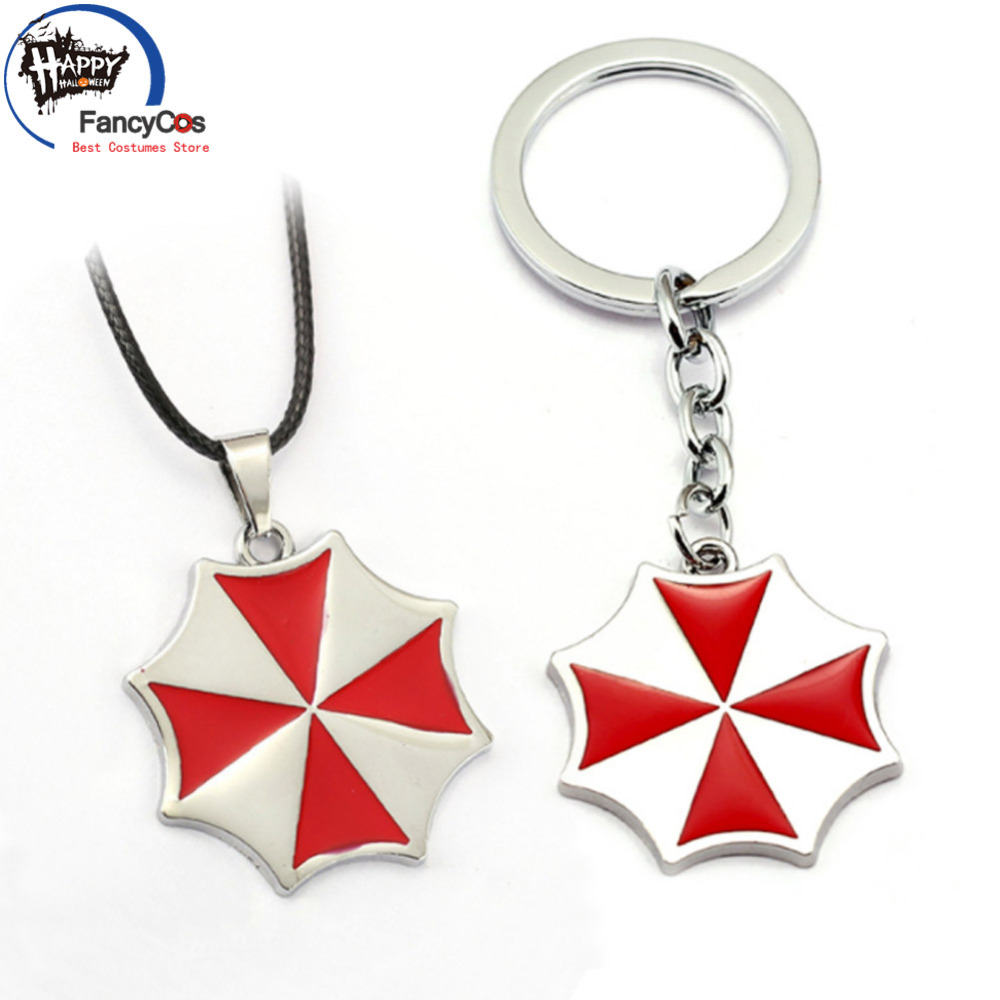Resident Evil  The Final Chapter  Umbrella Corporation  logo Metal  necklace  Fancy Jewelry Costume Cosplay Halloween Movie