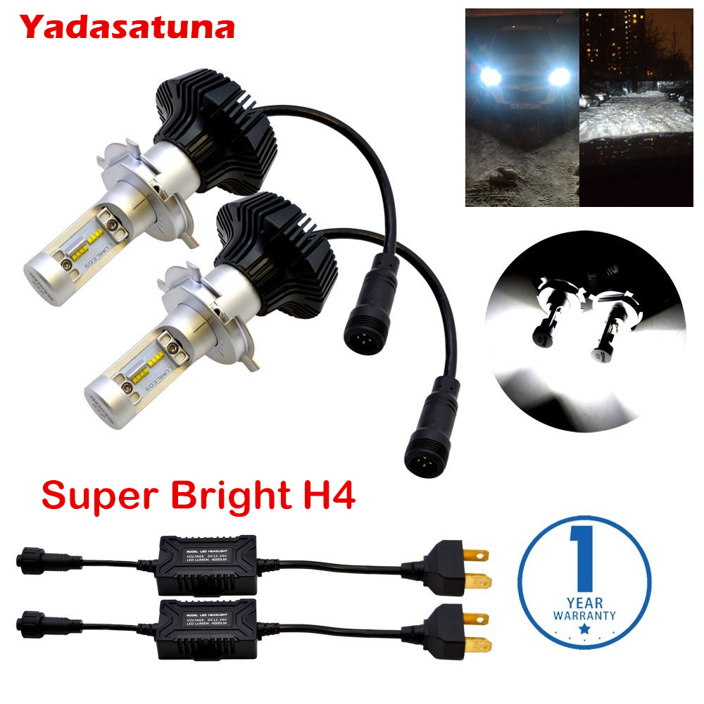Error Free Car Headlights Kit LUMILEDS MZ Chip H7 9012 H9 H11 9005 9006 H4 H1 LUXEON ZES LED Bulb Automobiles Headlamps Canbus