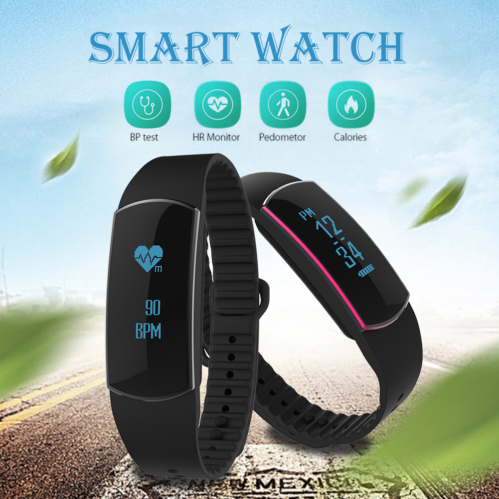 SH09 Smart Bracelet Pedometer Calorie Watches Smartband Heart Rate Monitor Fitness Pulsometro Activity Tracker