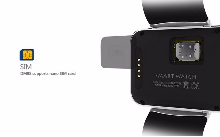 2.2-Display- 320240-LED-DM98-Smart-Watch-Android 5.1- MTK6572A-Dual-core -1.2G -900Mah -Camera-WIFI-3G-QQ-GPS-App-For-Smartphone (6)