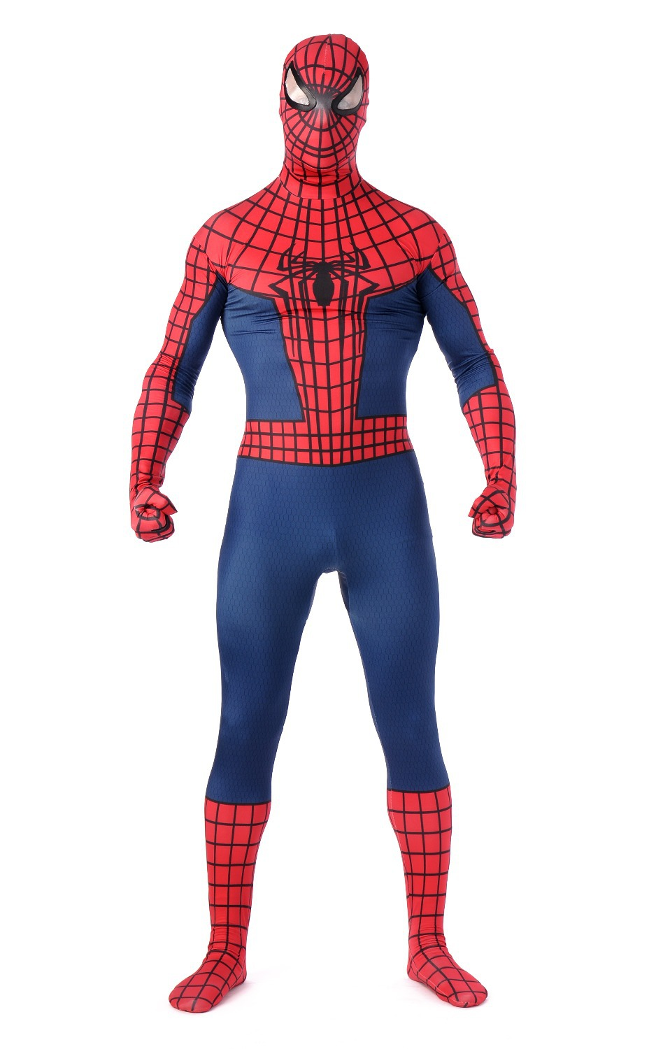 <font><b>Amazing</b></font> <font><b>Spiderman</b></font> Woman <font><b>Costume</b></font> <font><b>Adult</b></font> <font><b>Mens</b></font> Superhero Outfit Spandex Zentai Suits Lycra Full Mask Bodysuits For Halloween Cosplay