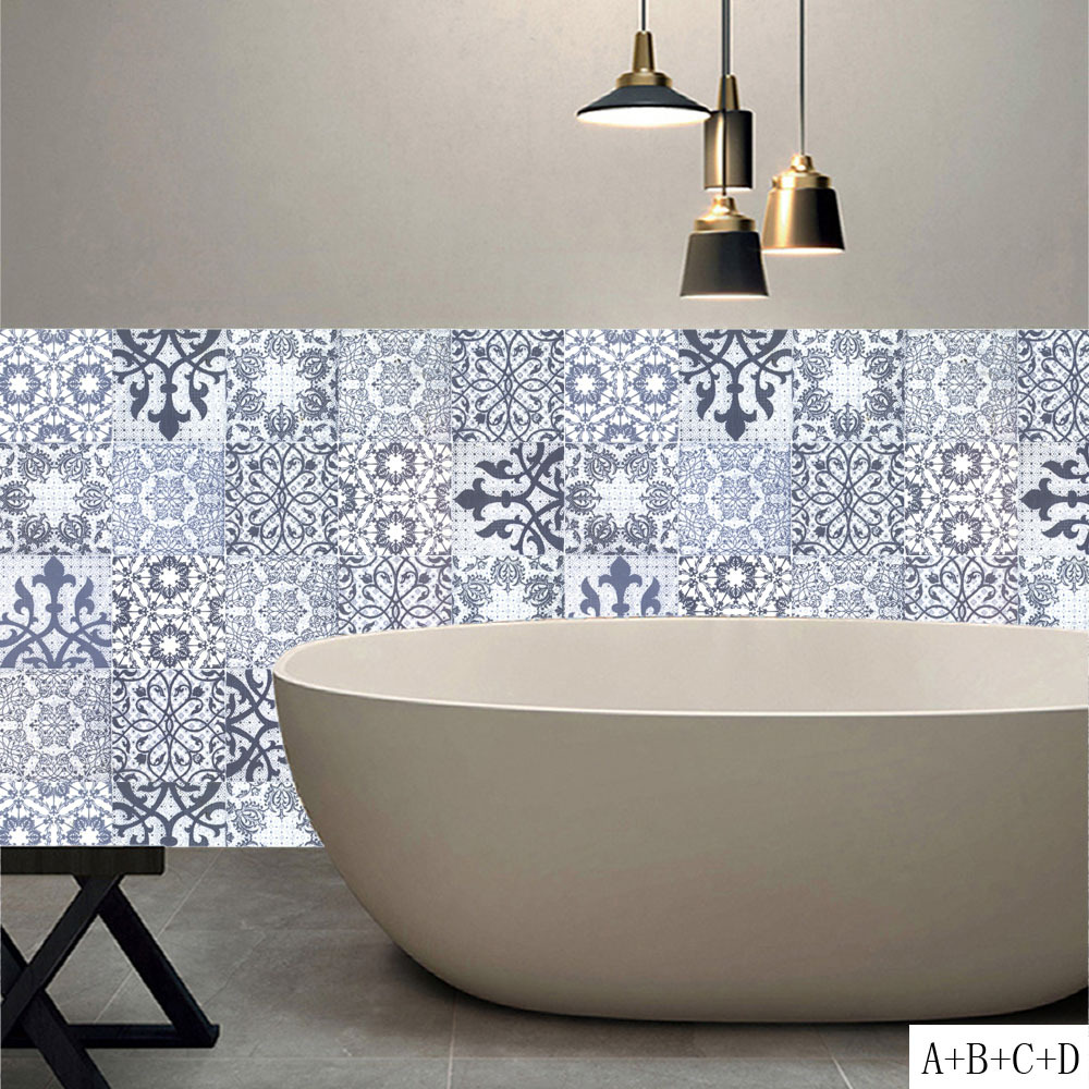 The Arab Style DIY Mosaic Wall Tiles Stickers Waist Line Wall ...