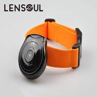 Lensoul Dog Puppy Cat cyfrowy rejestrator wideo 480P rejestrator wideo DVR czarny z obroża dla zwierząt bezpieczeństwo zmukovoi recorde w Minikamery od Elektronika użytkowa na