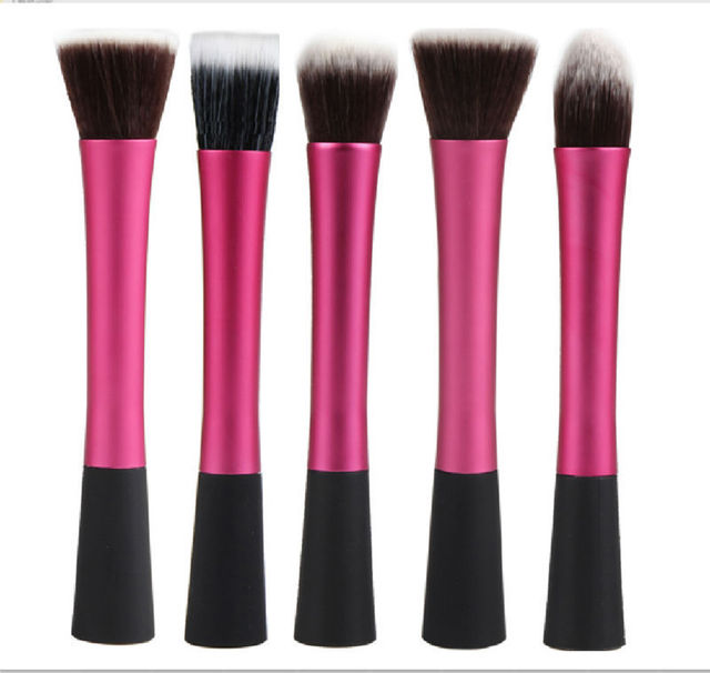 5 PCS Pink Hot High Quality Professional Makeup Brush Set Makeup Brushes Kit For Face Care Free Ship