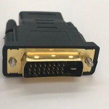 DVI 24 + 1 כדי hdmi מתאם DVI זכר ל hdmi נקבה ממיר עבור HDTV זהב מצופה תמיכת 1080 p באיכות גבוהה 1 Pcs