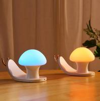 Nightlight USB Charging Bedside Lamp Novelty Girl Heart Colorful Ambient Lamp