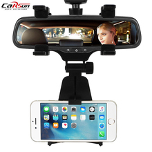 Multi Functional Black Car Rear View Mirror GPS Holder Mount Cell Phone Stand Bracket for Iphone Samsung Tablet Phone Holder  цена и фото