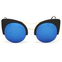 2016 Women Designer Plastic Cateye Sunglasses Six Colors Glass Lenses Eyewear Sun Glasses High Quality
