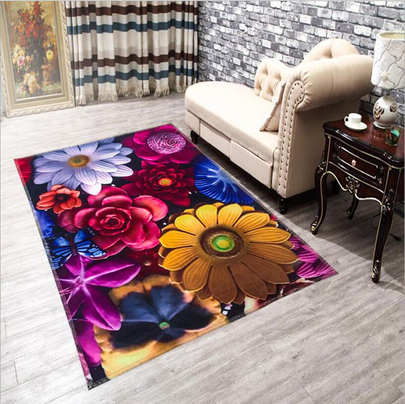 120 X 180cm Colorful 3d Hd Vivid Print Floor Carpet Fur Rugs And Tapis Novelty Home Decoration
