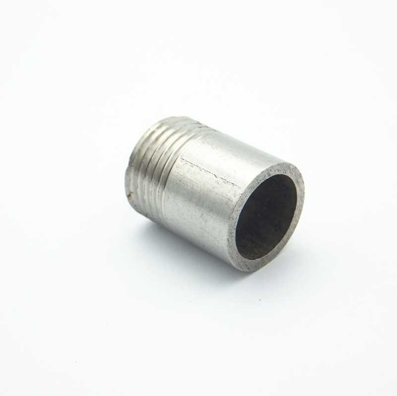"""1/2 """"BSP simple filetage mâle 304 acier inoxydable mamelon fileté raccord de tuyau connecteur pour eau huile Air"""