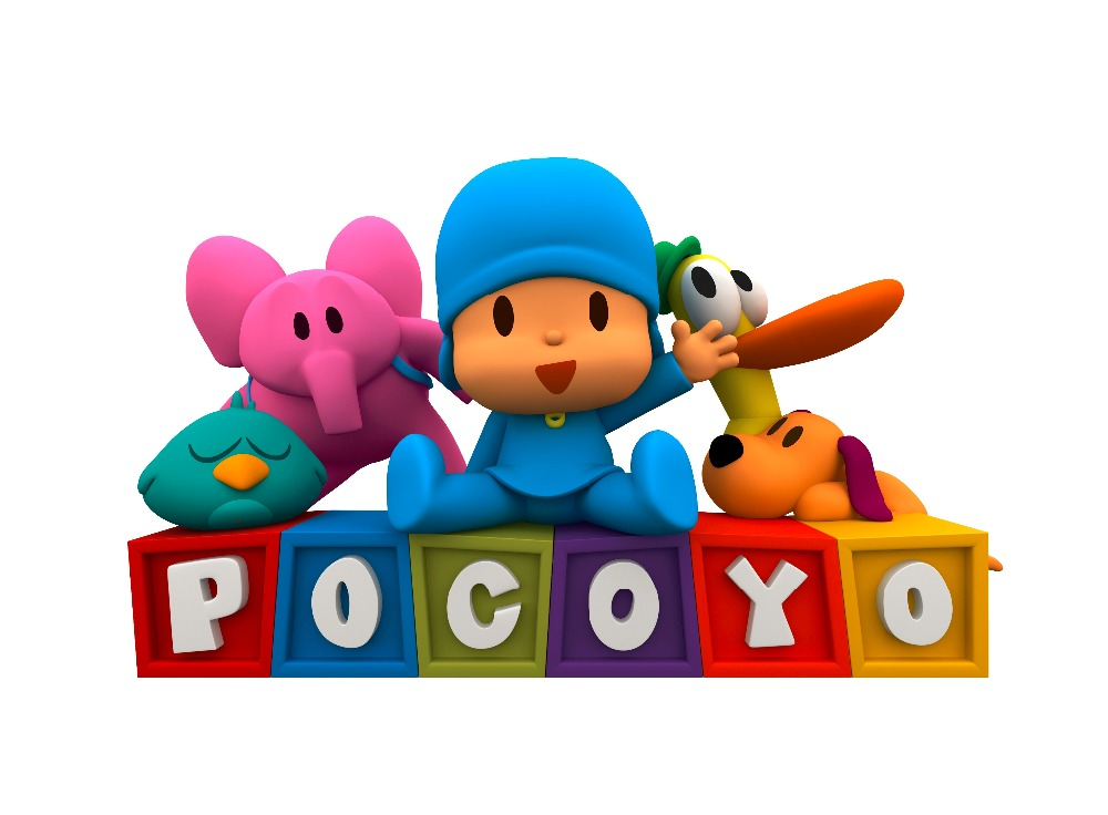 3D Cartoon wall sticker Cute POCOYO  Nostalgia cartoon for kids room home decor CWCUTE004