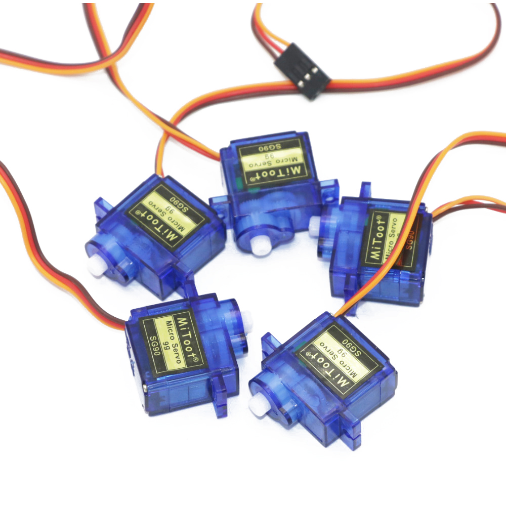 5pcs/lot Mitoot Brand SG90 9g Mini Micro Servo for RC for RC 250 450 Helicopter Airplane Car