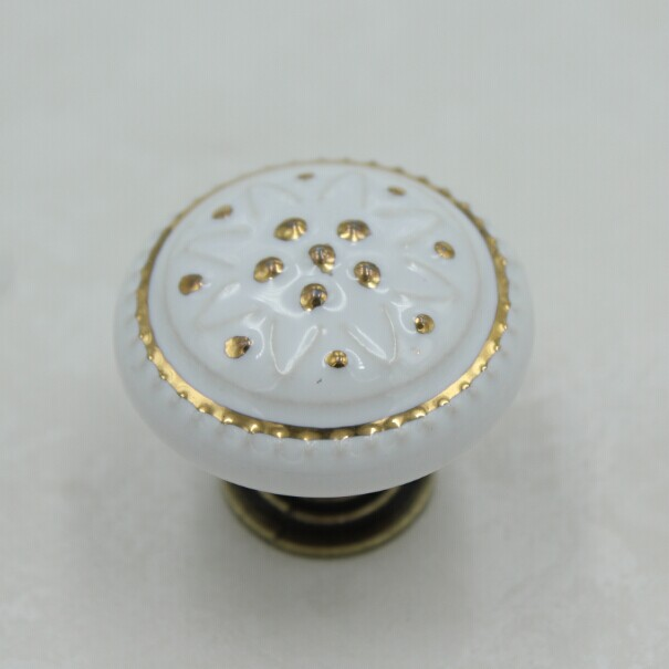 Kitchen Cabinet Knob white /gold Ceramic Drawer Knob Pull Bronze Dresser Cupboard Door Handle Knob Antique brass Porcelian vintage bird ceramic door knob children room cupboard cabinet drawer suitable kitchen furniture home pull handle with screws