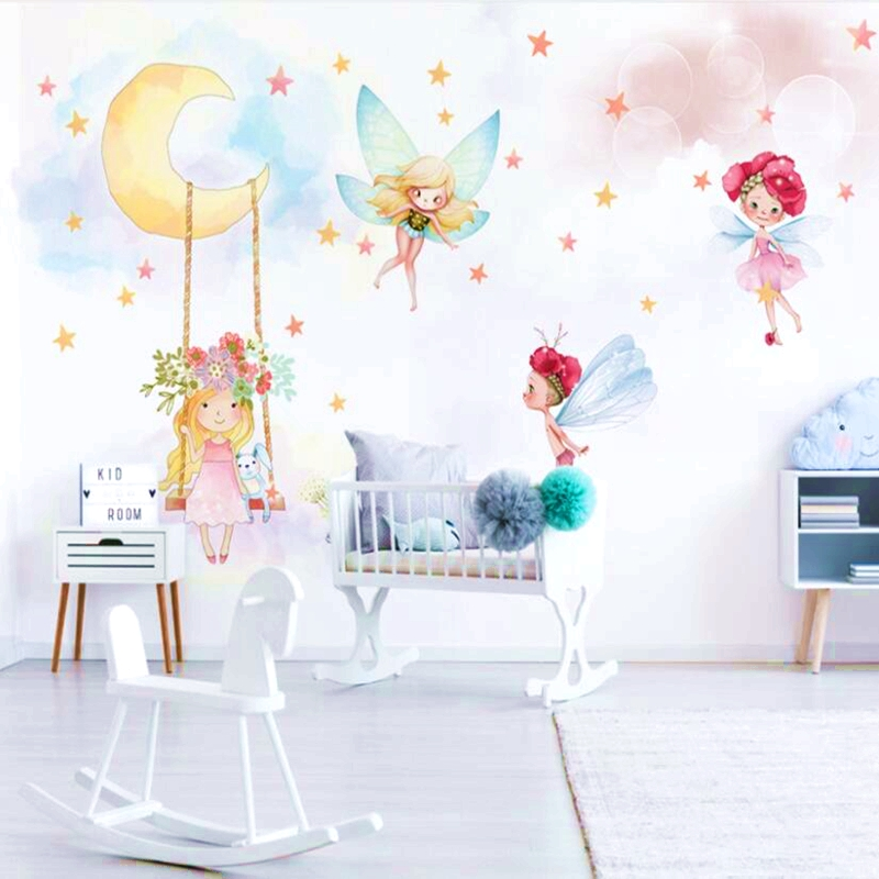 Wallpapers Modern Custom 3D Child Photo Mural Wallpaper Fantasy Elf Eco-friendly Non-Woven For Girls Baby Kids Room Bedroom
