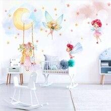 Wallpapers Modern Custom 3D  Child Photo Mural Wallpaper Fantasy Elf Eco-friendly Non-Woven For Girls Baby Kids Room Bedroom