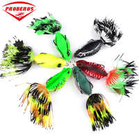 Silicone Soft Frog Fishing Lure 63.5mm/14g Lifelike Topwater Floating Jump Frog With Hook Artificial Wobbler bait For Lake River