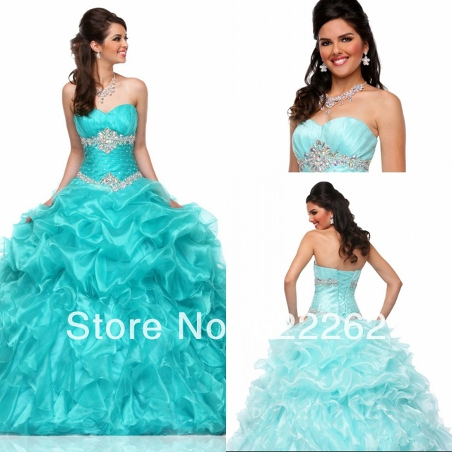 37114e62206a Beautiful Ball Gown Sweetheart Quinceanera Dresses Floor Length Organza  Beaded Lace Up Prom Girls Dresses 16 Year Old