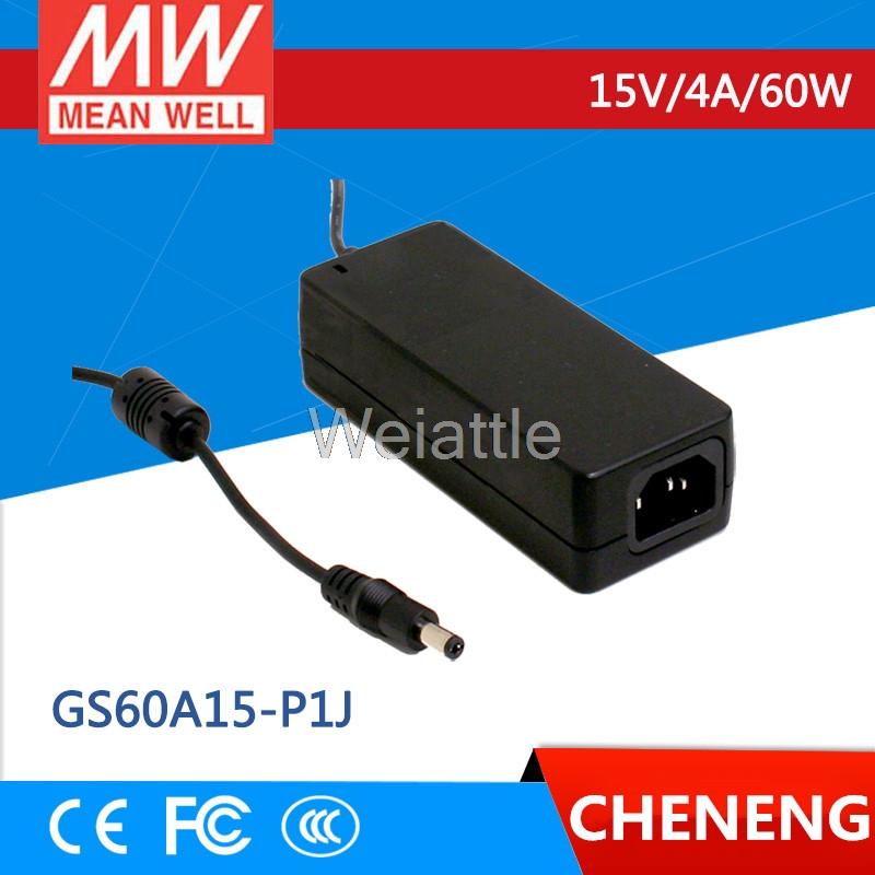 MEAN WELL original GS60A15-P1J 15V 2.67A meanwell GS60A 15V 60W AC-DC Industrial Adaptor
