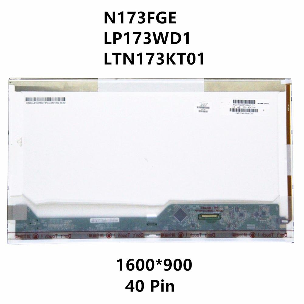 N173FGE LP173WD1 LTN173KT01 For Acer Aspire V3-771 V3-771G V3-731-4446 V3-731-4634 VA70 7551G Laptop LCD Screen Display Matrix ttlcd laptop hd lcd screen display 17 3 inch fit lp173wd1 tl c3 new led glossy