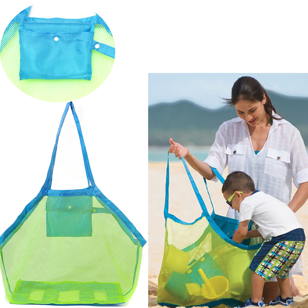 Kids Carry Beach Toys Sand Away Beach Bag Pouch Tote Mesh Tool Pocket Sand Toy Collection Sand Away Beach Mesh Tool