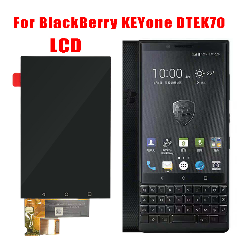 100% NEW For BlackBerry KEYone DTEK70 LCD Display Touch Screen Digitizer For BlackBerry DTEK70 LCD KEYone Replacement Parts(China)