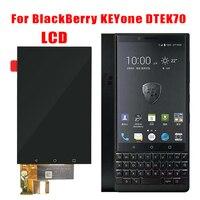100% novo para blackberry keyone dtek70 display lcd de toque digitador da tela para blackberry dtek70 lcd peças reposição