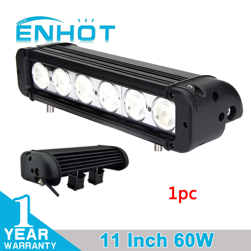 ENHOT 11'' 60W CREE CHIP LED LIGHT BAR FOR OFF ROAD ATV SUV LED DRIVING LIGHT LED WORK LIGHT BARFLOOD SPOT COMBO DRIVING LAMP-in Car Light Assembly from Automobiles & Motorcycles    1