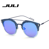 2015 New D Fashion Men Brand Designer Composit Pilot Metal Frames Women Sunglasses Mirror Lenses Eyewear