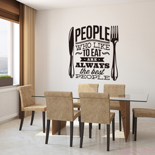 Stickers People Who Like To Eat Vinyl Wall Art Decal Kitchen Home Decor Poster English Quote House Decoration 50 cm x 57