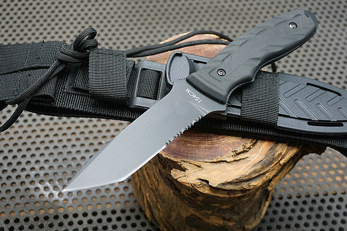 Trskt 154CM Steel , ABS + Nylon Sheath, Fixed Blade Knife Hunting Camping knife Survival Rescue Knives Outdoor Tool Dropshipping стоимость