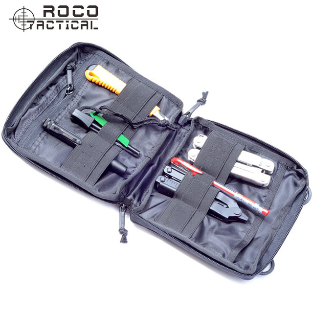 ROCOTACTICAL D80 MOLLE EDC Tactical Organizer Pouch Military Low Profile OP Pouch Military EDC Army Waist Organizer
