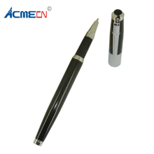 ACMECN Unisex Metal slim Medium ink Pen Black & White Body for Business Office School Writing Instruments Stationery Gifts