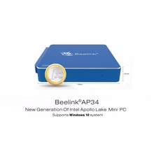 Beelink AP34 Intel Apollo N3450 Mini PC Windows 10 8G/64G SSD mem Bluetooth 4.0 USB 3.0 2.4 + 5.8G Wifi 4 K UHD 1000 M Lan