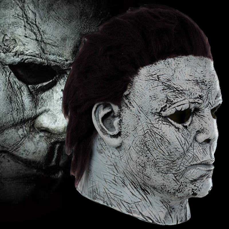 Michael Myers Masks Cosplay Michael Myers Costumes Accessories Adult Latex Full Face Helmet Halloween Party Scary Props