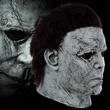Michael Myers Masks Cosplay Costumes Accessories Adult Latex Full Face Helmet Halloween Party Scary Props