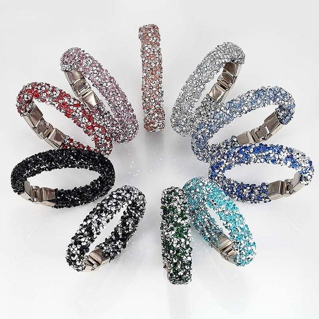 Купить женский браслет с кристаллами janeyacy повседневный подвесками картинки