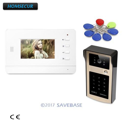 все цены на HOMSECUR 4.3inch Video Door Entry Phone Call System Electric Lock Supported for Apartment онлайн