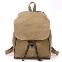 Простой свежий дизайн Корейский стиль холст женщины рюкзак девушки мода досуг сумка старинные небольшой сумка