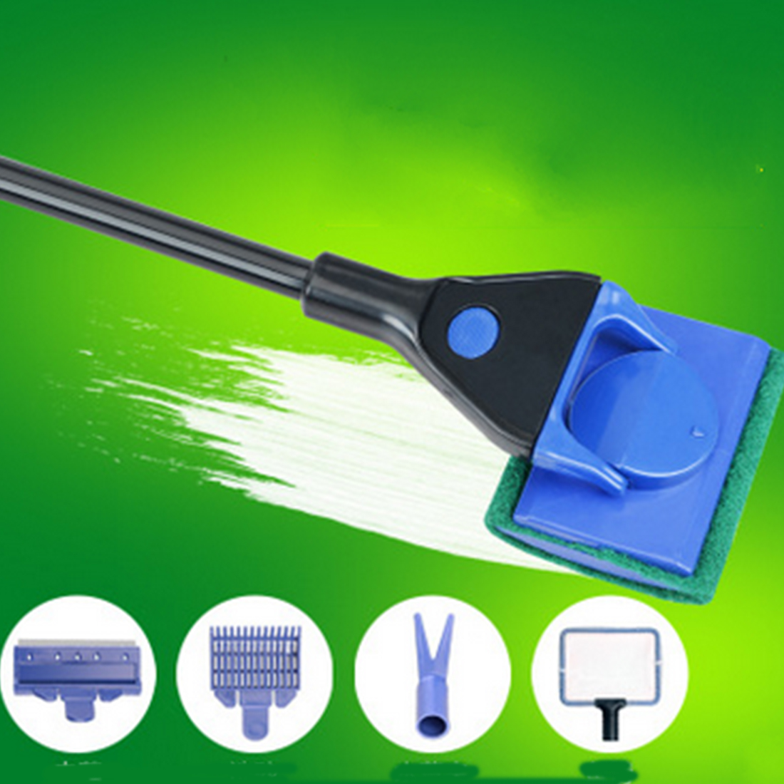 Fish aquarium glass cleaner - Useful 4in1 5in1 Aquarium Glass Cleaner Tool Kit Gravel Fork Net Sponge Fish Tank Fishing Algae