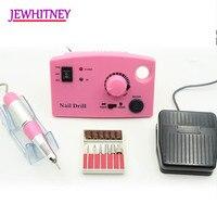 Jewhitey 35000 RPM Electric Nail Drill Machine File Nail Milling Cutter Manicure Pedicure Drill Set Nail