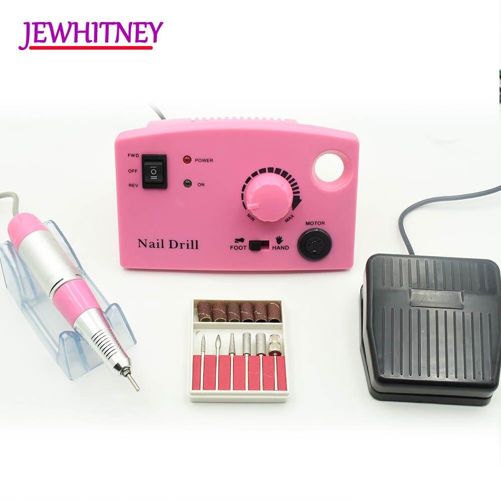 Jewhitey 35000 rpm Trivello Elettrico Del Chiodo Macchina File Nail Fresa Trivello di Pedicure del Manicure Set Nail Drill Polacco Kit di Strumenti di
