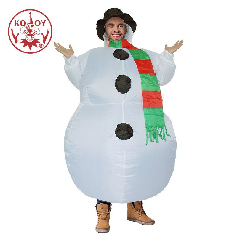 Halloween Christmas Purim Carnival Inflatable Snowman Costume Adult Fancy Dress Costumes Cosplay Stag Hen Night Party