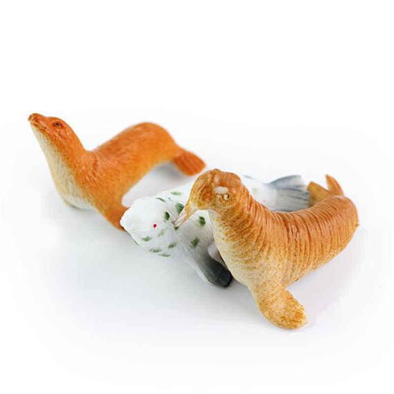 24 pçs/set Figura Brinquedos Modelo de Criaturas Do Mar Cavalos-marinhos Polvo De Plástico Animais Do Oceano