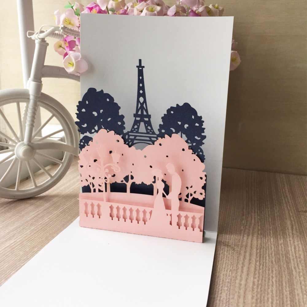 Amazing 10Pcs Love Theme Handmade 3D Card Engagement Unique Design Wedding Funny Birthday Cards Online Alyptdamsfinfo