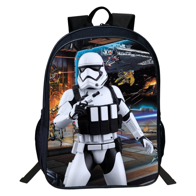 2017 New Style Hero Oxford 16-Inches Printing 3D Star Wars Cartoon Cool Kids Backpack for Boys School Bags for Children Bookbag